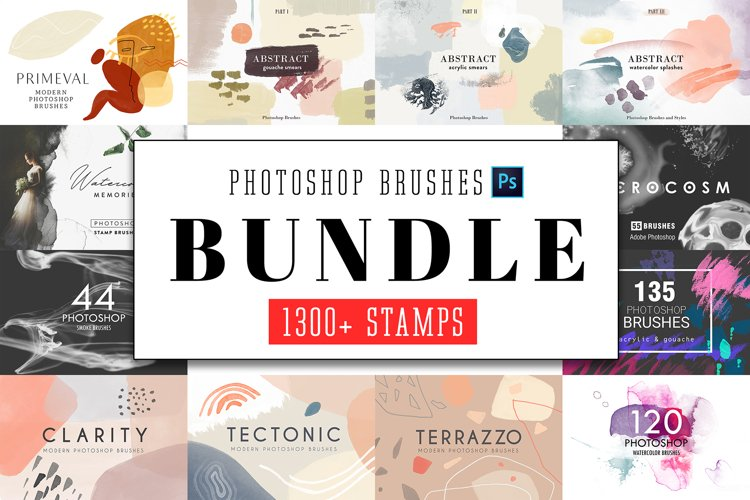 All Photoshop Stamp Brushes Bundle