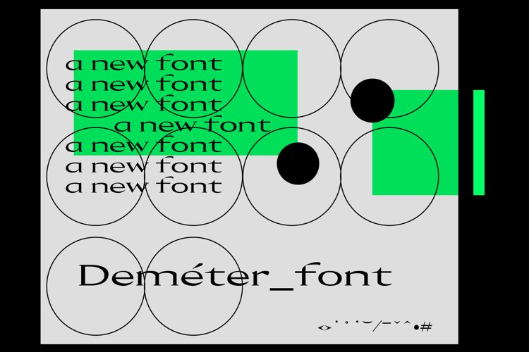 Demeter Font example image 1