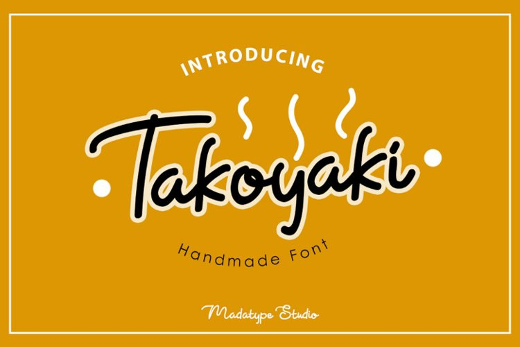Takoyaki | A Natural Handwritten Script Font