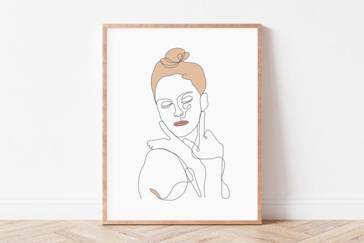 Woman Wall Art, Woman Single Line Wall Art, Lineart Wall Art