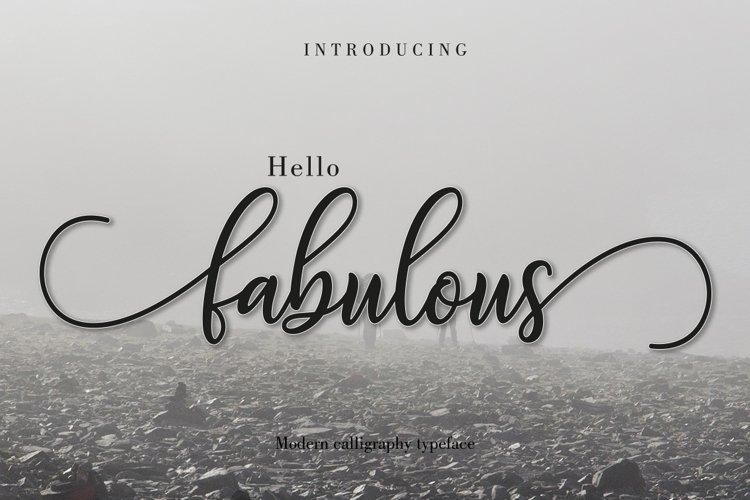 Fabulous Script example image 1
