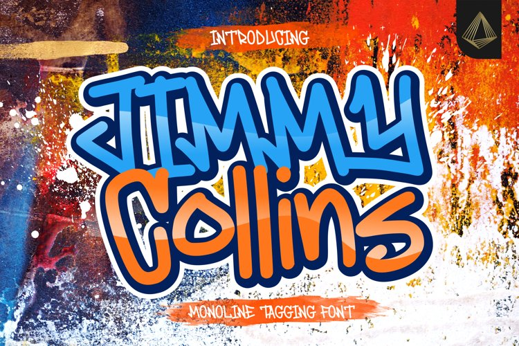 Jimmy Collins - Monoline Tagging Font example image 1