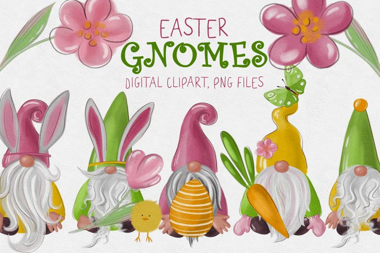 Easter gnomes clipart Collection