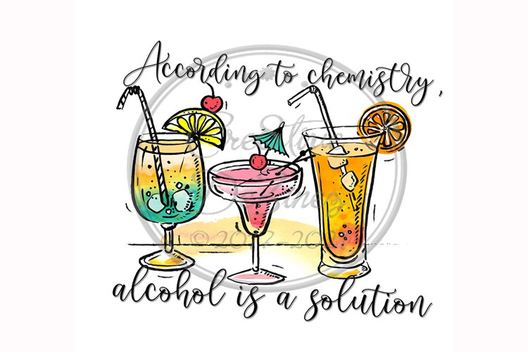 Chemistry Alcohol, Funny Kitchen Towel Sublimation, Food Pun