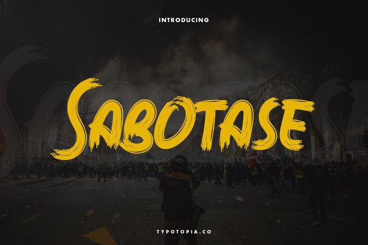 Sabotase - The Brush Font example image 1
