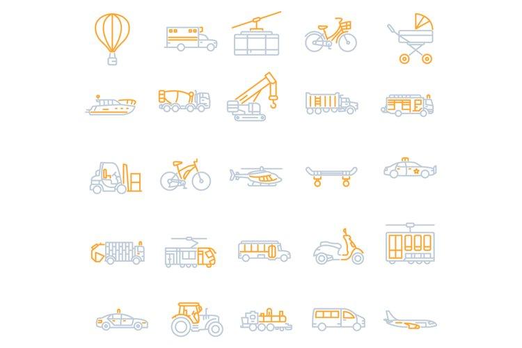 Transportation icons set example image 1