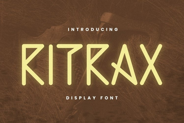 RITRAX Font example image 1