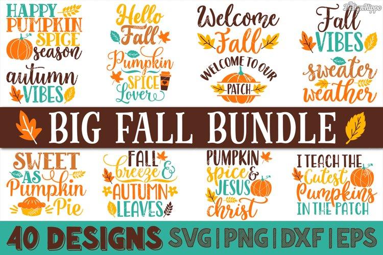 Big Fall Bundle of 40 Designs SVG DXF PNG Cricut Cut Files