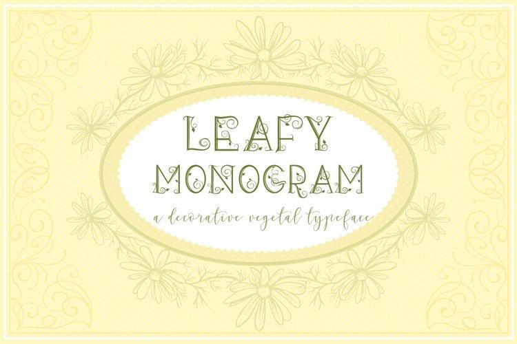 Leafy Monogram Font & Alphabet example 3
