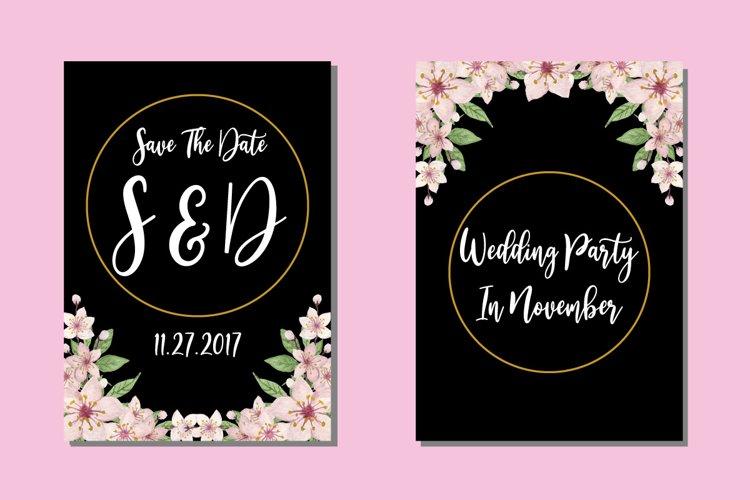 Wedding Invitations Cherry Blossom Sakura Watercolor Design