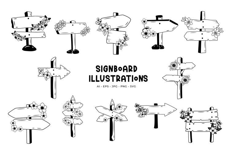 Signboard Illustrations