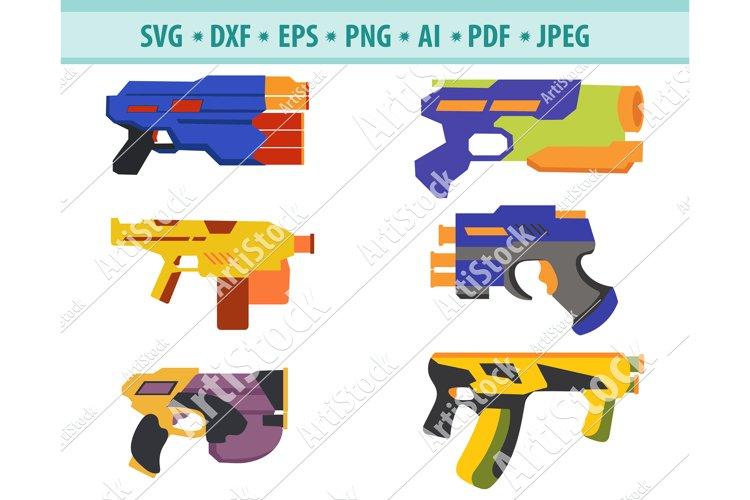 Toy Gun SVG File, Nerf gun Svg, Water Gun Svg, Dxf, Png, Eps example image 1