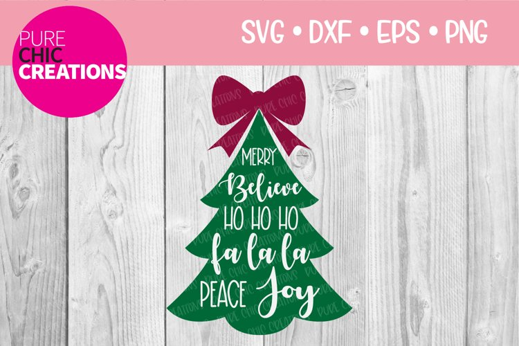 Christmas SVG|Christmas Blurbs - Tree|SVG DXF PNG EPS example image 1