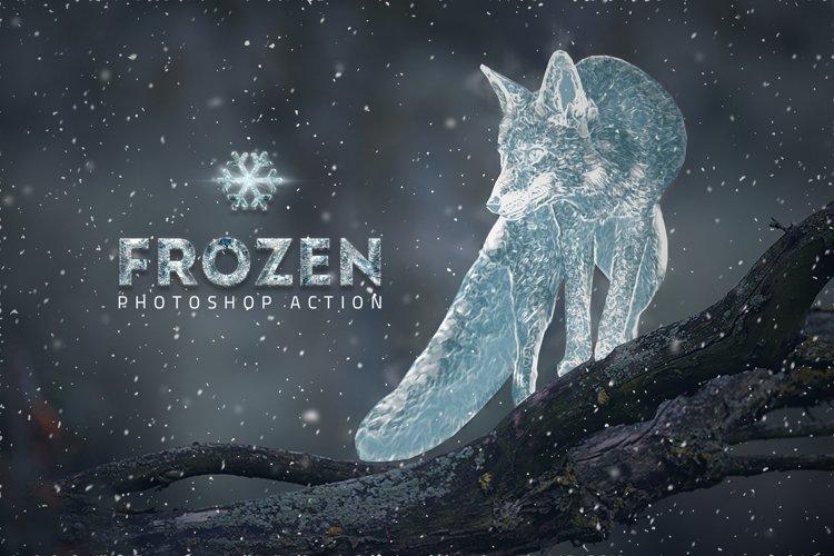 Frozen Ice Photo Effect // Big Discount