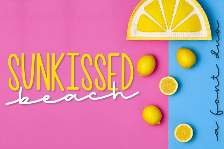 Sunkissed Beach - a Hand Lettered Font Pair - Script & Print example image 1