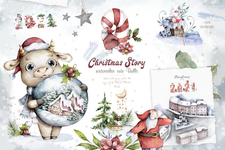 Christmas Story with Cute Bulls