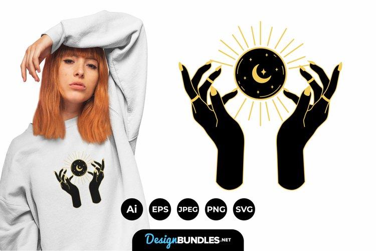Mystic Hand Illustrations for T-Shirt Design