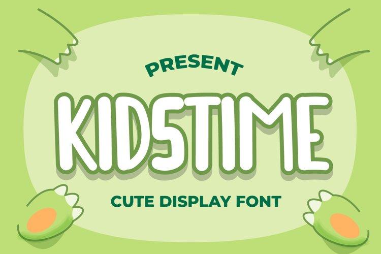 Kidstime - Cute Display Font example image 1