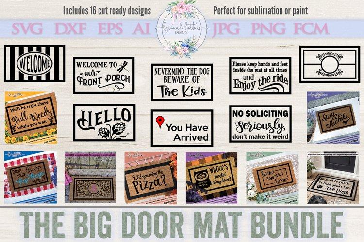 The Big Door Mat Bundle of 16 SVG Cut Files LLBB004
