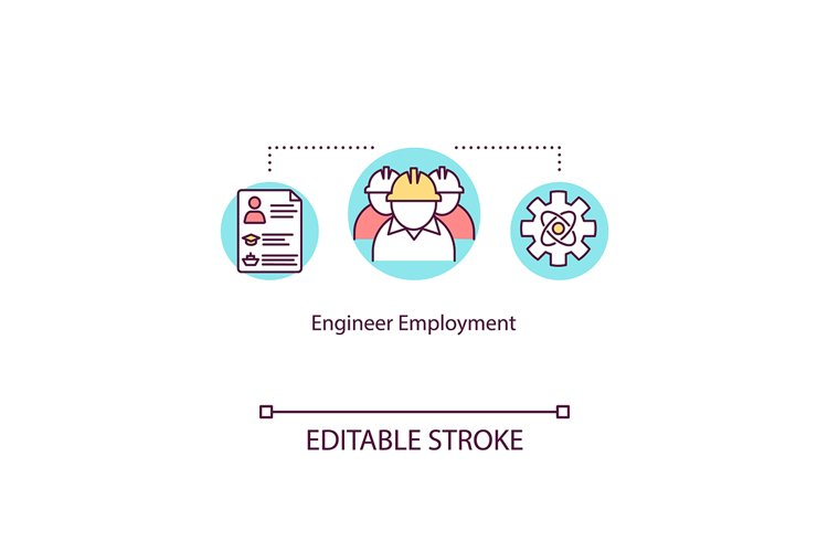 Engineer employment concept icon example image 1