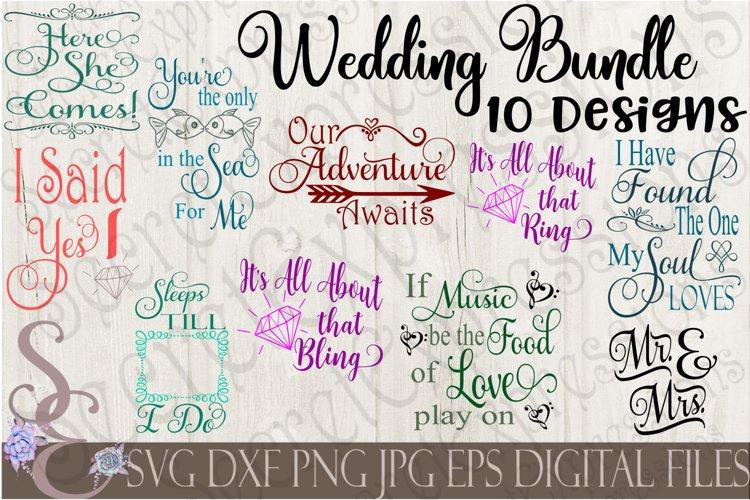 Wedding SVG Bundle 10 Designs example image 1
