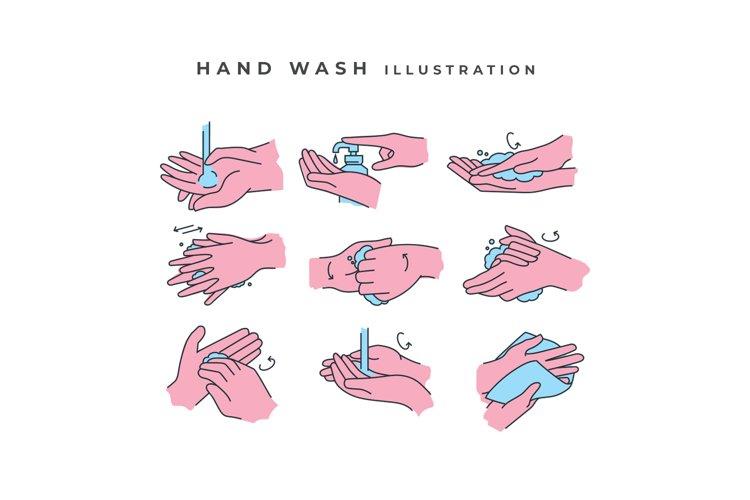 Hand Wash Illustration