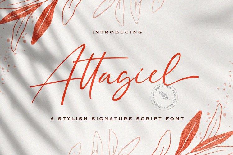 Attagiel - Handwritten Font example image 1