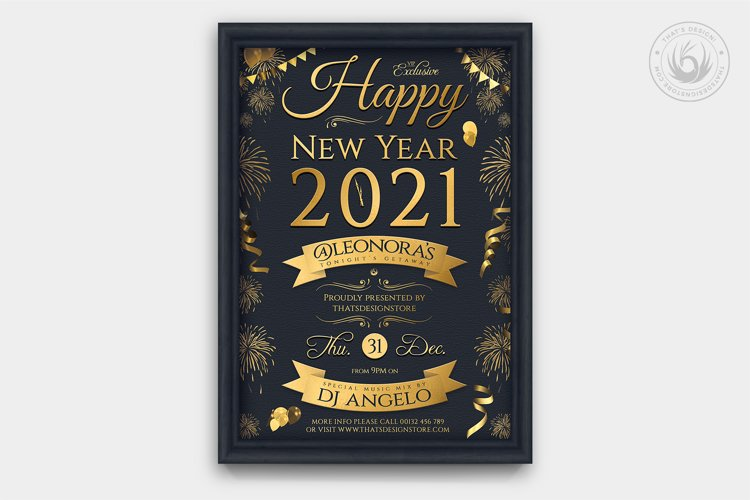 New Year Flyer Template V5 example image 1