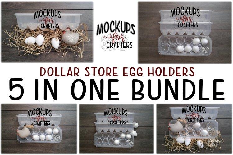 Dollar Tree Egg Holders / Egg Cartons - Bundle of 5 mock-ups