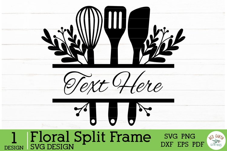 Kitchen decal monogram frame, baking rustic monogram SVG,PNG