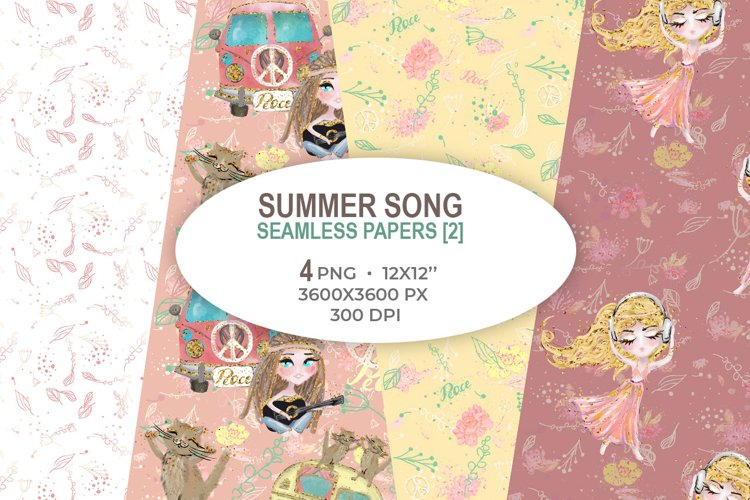 Summer Song seamless papers 2