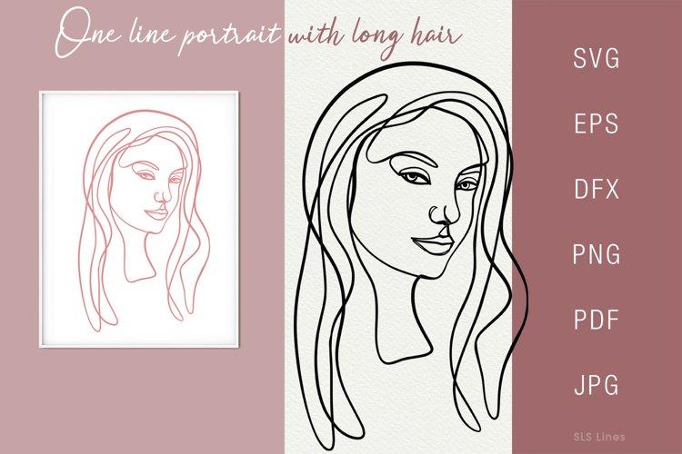 One line portrait illustration SVG PNG Face 9 example image 1