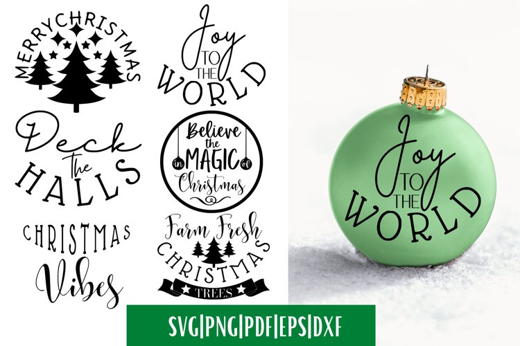Christmas Ornament SVG Bundle - 6 | V2 example image 1