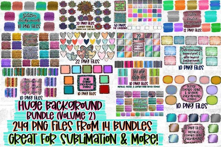 249 PNG Files! Mega Sublimation Background Bundle Volume #2
