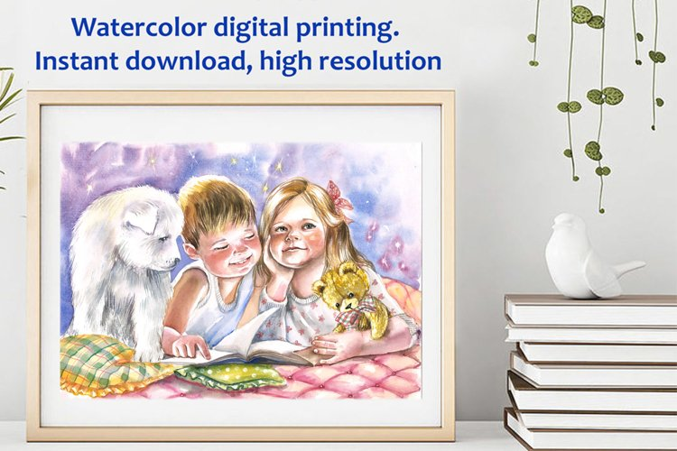 Artistic digital printing, Nice kids poster example image 1