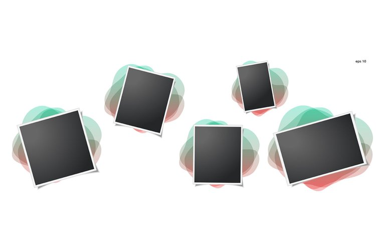 Photo frame on isolated background. For your photography example image 1