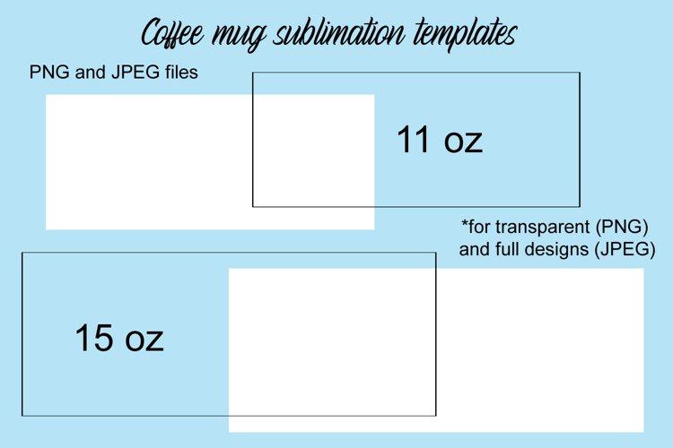 Coffee Mug Sublimation Templates example image 1