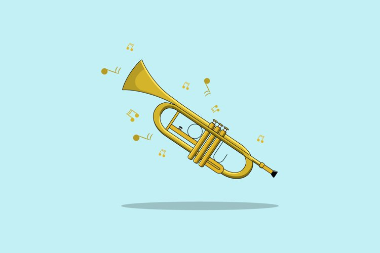 Trumpet Vector illustration example image 1