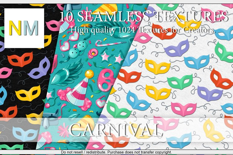 Carnival 10 Seamless Textures example image 1