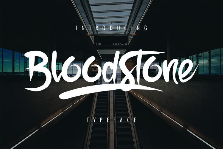 BloodStone Typeface example image 1