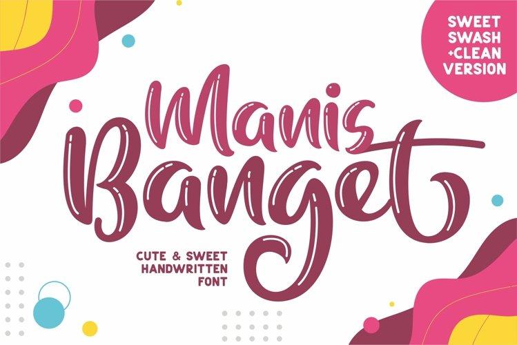 Manis Banget - Cute Font example image 1