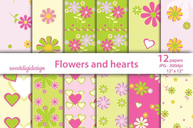 Paper pink flowers decoration digital wallpaper example image 1