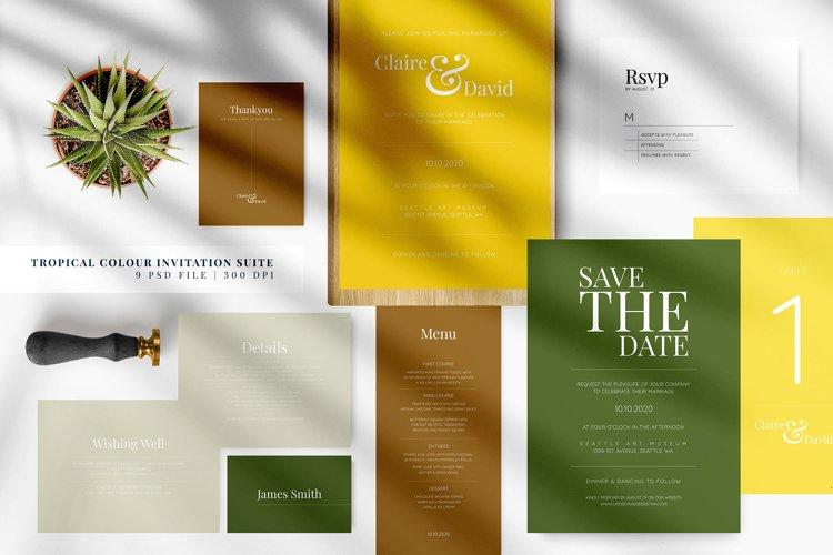 Tropical Colour Invitation Suite example image 1