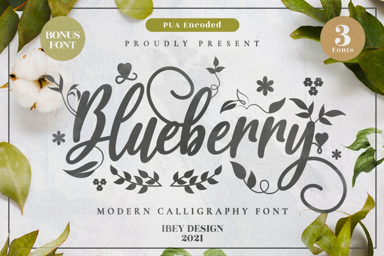 Blueberry - Modern Calligraphy example image 1