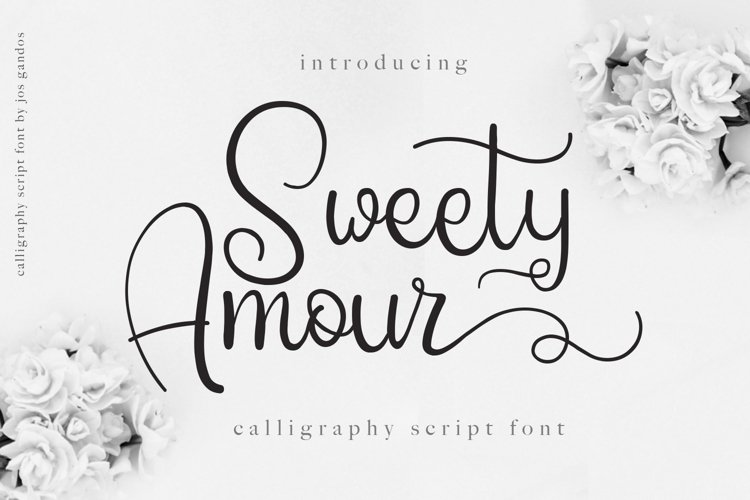Sweety Amour Calligraphy Font example image 1