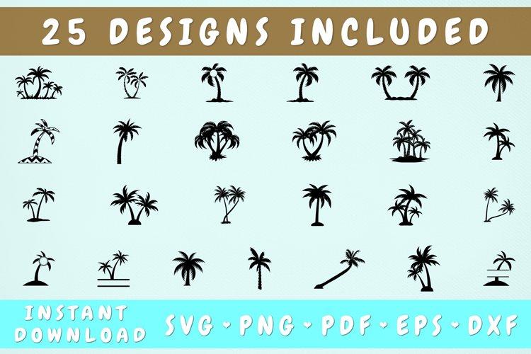 Palm Tree SVG Bundle - 25 Designs, Palm Tree Silhouette example image 1