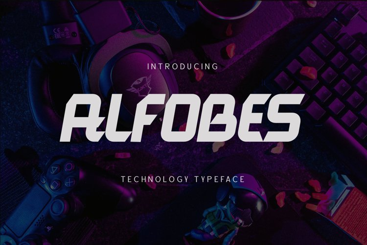 Alfobes typeface example image 1
