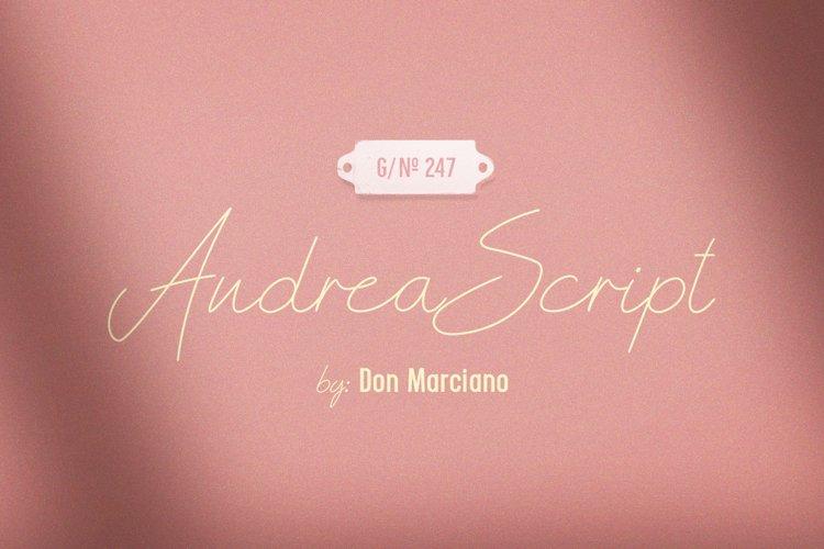 Andrea Script Thin