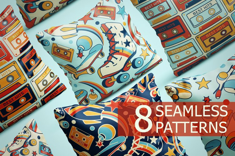 Seamless patterns Back to 90s