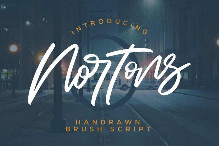 Web Font Nortons - Handrawn Brush Script Font example image 1